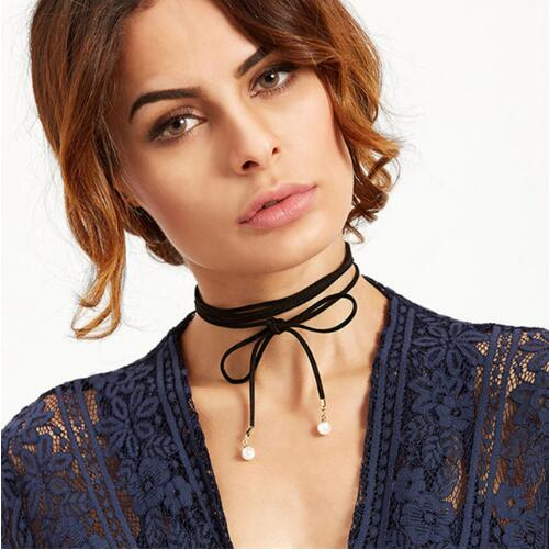 Black Lace Tattoo Necklace