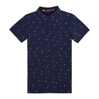 2018 Stand Collar Polo T-Shirt