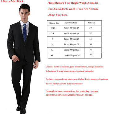 (Jackets+Pants) New Men Suits Slim Custom Fit Tuxedo
