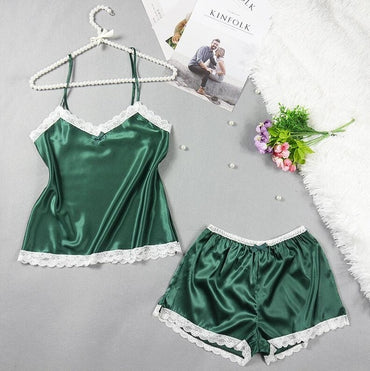 Hot Selling Fashion Womens Lace Pajamas Set