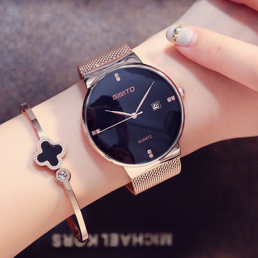 Luxury Fashion Rose Gold Elegant Rhinestone Women Watch