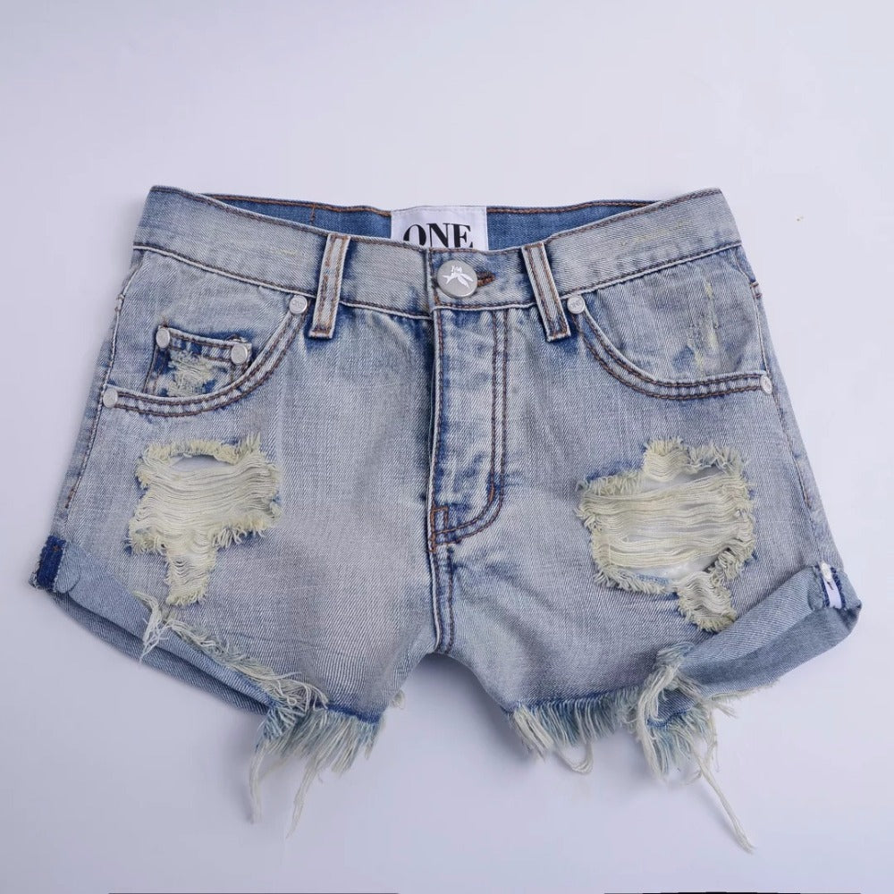 Denim Shorts Women Vintage