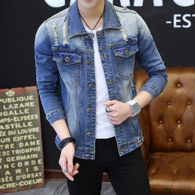 New Mens Denim Jacket