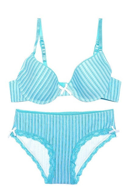 Striped bra set