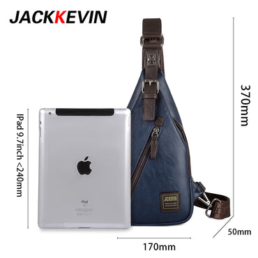 JackKevin Men's Fashion Crossbody Bag