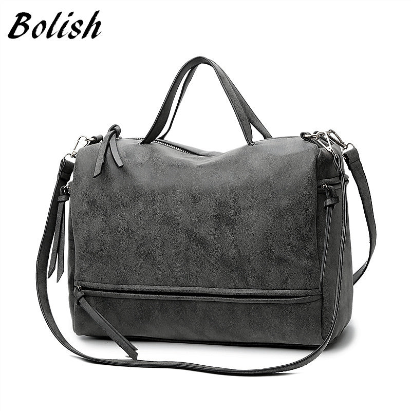 Shoulder Bag Nubuck Leather