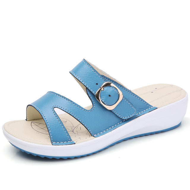 Leather flat Sandals - GaGodeal