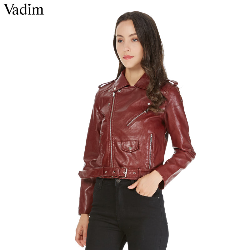 Leather Short Motorcycle - GaGodeal