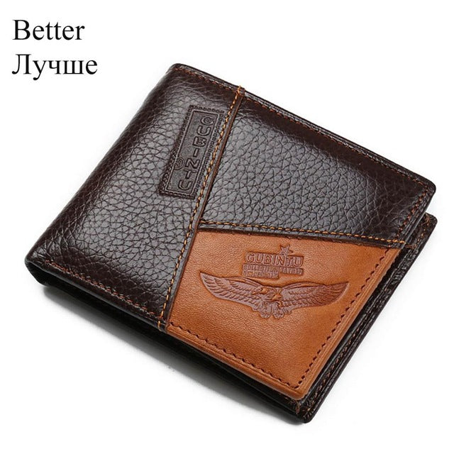 100% Genuine Leather Men Wallets - GaGodeal