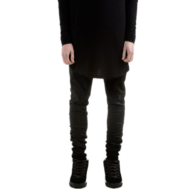 New Fashion Mens Black Skinny Jeans