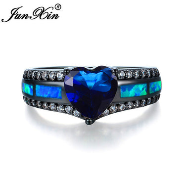 Charm Multicolor Heart Zircon Opal Rings - GaGodeal