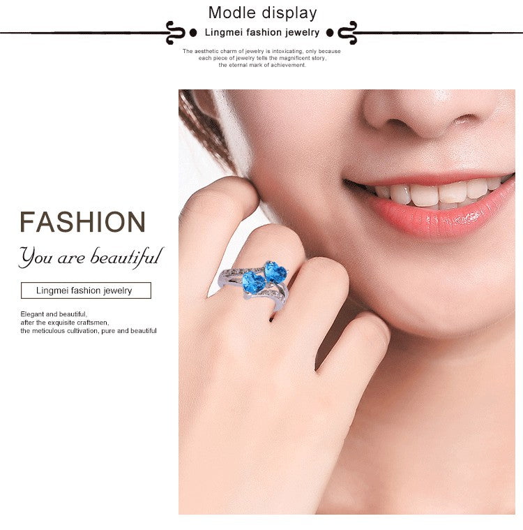 Fashion Heart Dazzling Ring