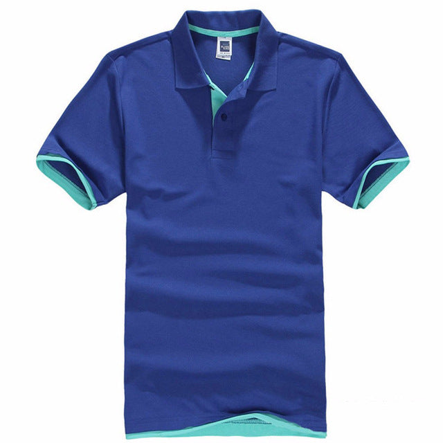 New Men's Polo Shirt Cotton Short Sleeve