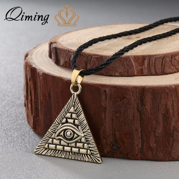 Vintage Egyptian Pyramid Pendant Necklaces - GaGodeal