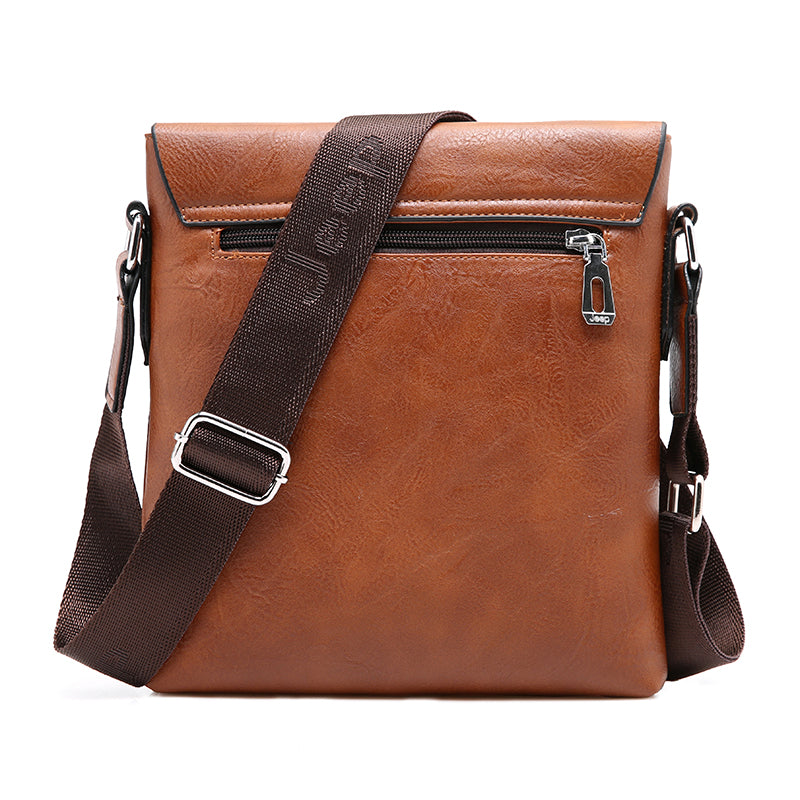 Man Leather Bag Jeep Brand
