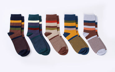 5 Pair/Lot Cotton Compression Socks