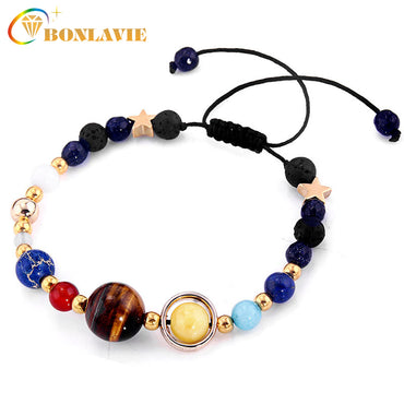 Fashion Universe Galaxy Natural Stone Beads Bracelet