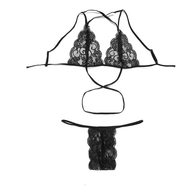 Sexy Lace Bra Set Transparent - GaGodeal