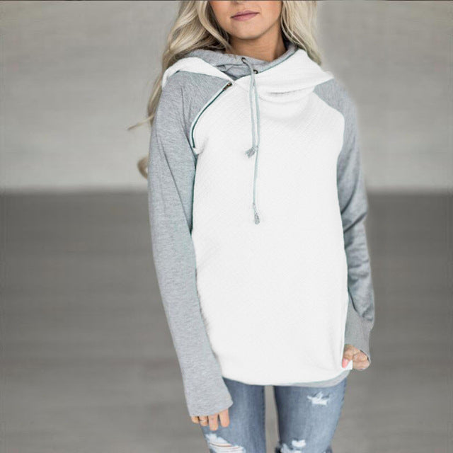 Patchwork Double Hood Hooded