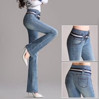 Spring and autumn new high waist micro La jeans women