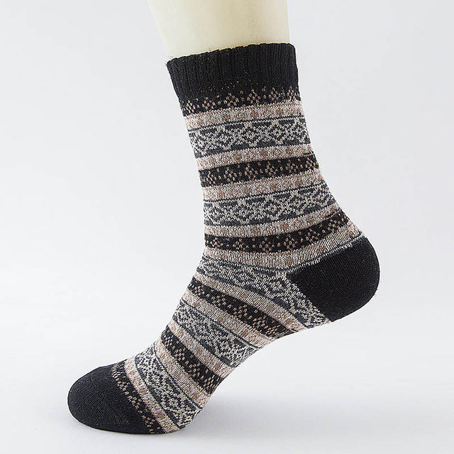 Stripe Wool Socks