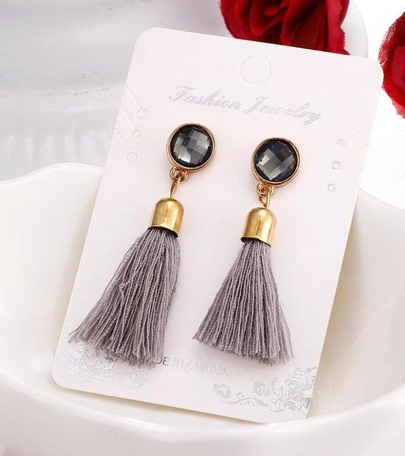 Hot tassel earrings