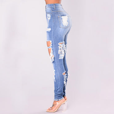 Ripped Jeans Blue Hole - GaGodeal