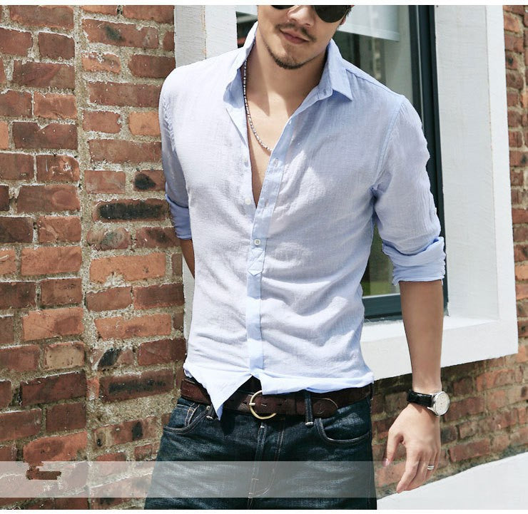 Stylish Cotton Linen Men Shirt