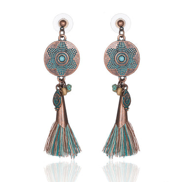 Antique Vintage Bohemian Ethnic Earrings - GaGodeal