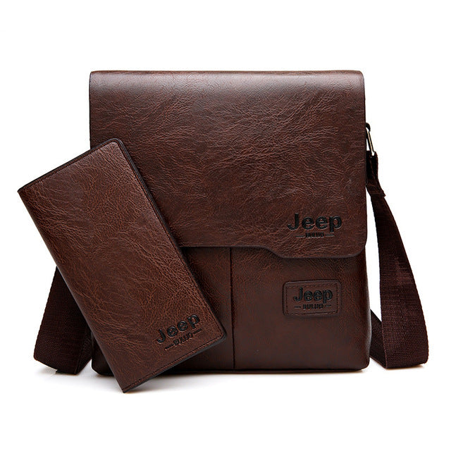 JEEP BULUO Messenger Bag PU Leather- 2 Set