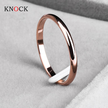 Titanium Steel  Rose Gold Couples Ring - GaGodeal