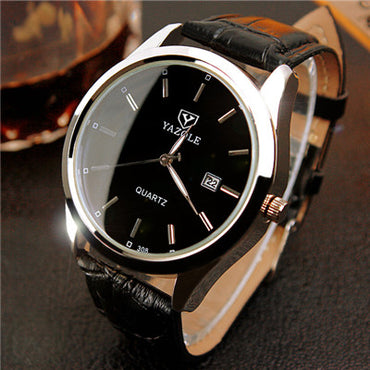 Top Brand Luxury Leather Quartz Watch - GaGodeal