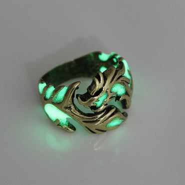 Mens Luminous Dragon Rings - GaGodeal