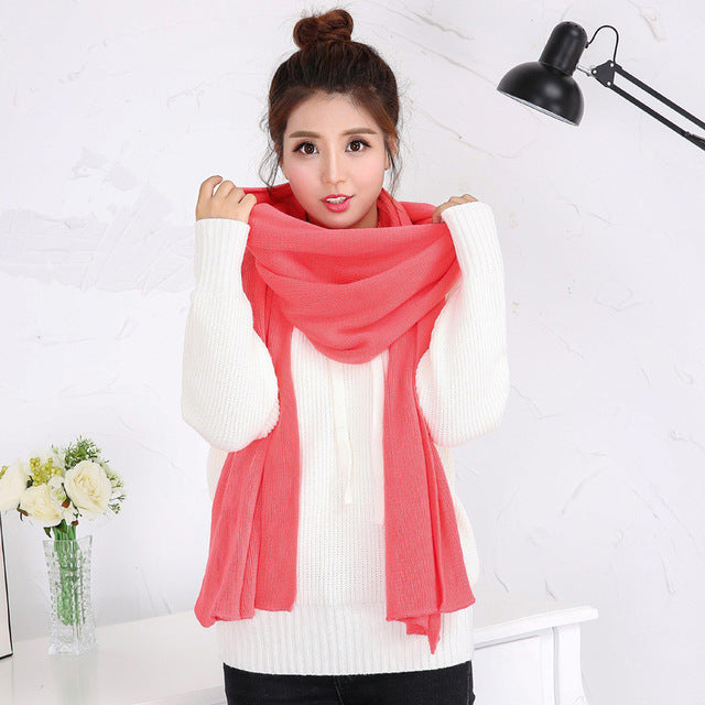 Korean Style Fashion Women Scarf. Best Gift For Girlfriend. Girf For Her