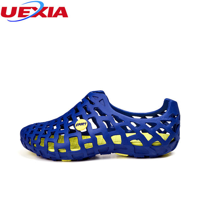 Men Fashion Flats Hollow Out Hole Breathable Shoes
