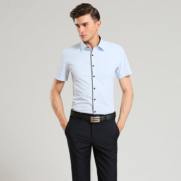 New Summer Men Shirt Short Sleeved Fashion Solid