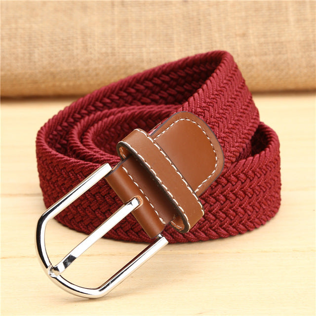 Elastic belt knitted canvas