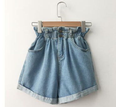 High Waist Denim Shorts Women Casual