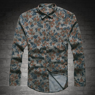 New Fashion Long Sleeve Casual Shirt  Europe Style