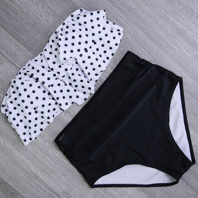 Swimsuit High Waist Bathing - GaGodeal