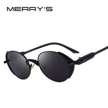 Women Steampunk Vintage Sunglasses UV400 Protection