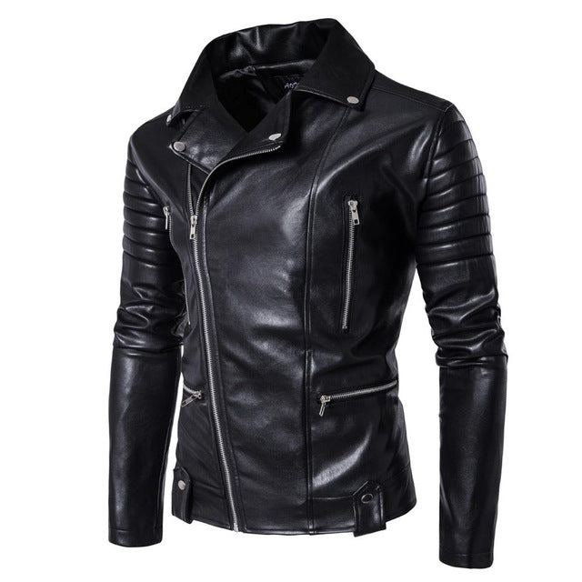 Classic Style PU Leather Jacket - GaGodeal