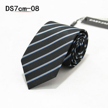 Jacquard Stripe Plaid Skinny Ties