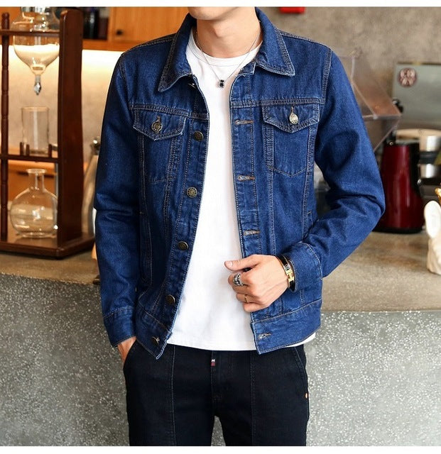 2018 Men Jean Jacket - GaGodeal