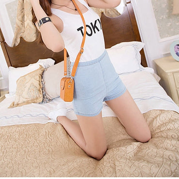 New Sexy Women Slim High Waist Jeans Denim Tap Short