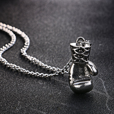 Men Fashion Lovely Mini Boxing Glove Necklace