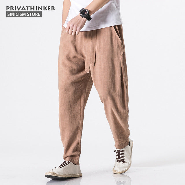 Cotton Linen Harem Pants - GaGodeal