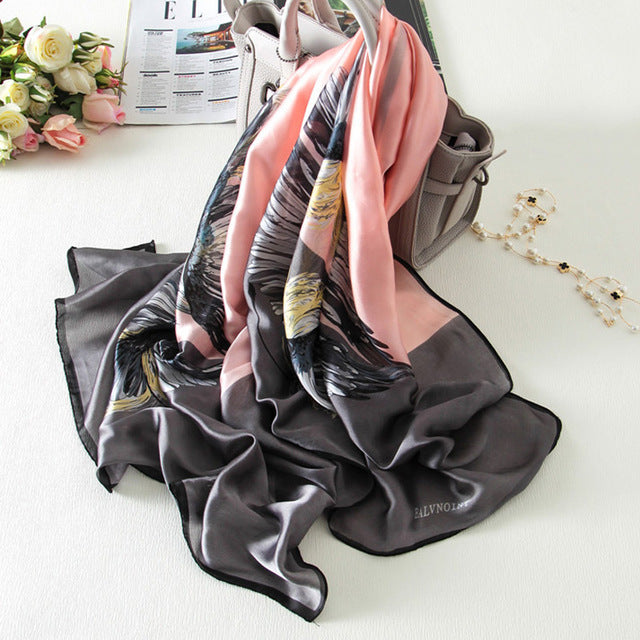 Women Silk Scarf Digital