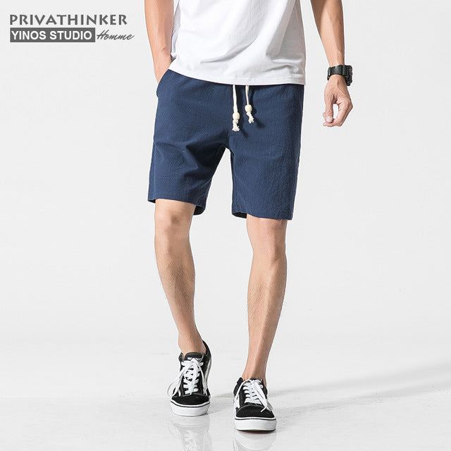 Cotton Linen Shorts - GaGodeal