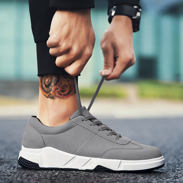 Classic Fashion Male Lace up Flats Comfortable Sneakers - GaGodeal